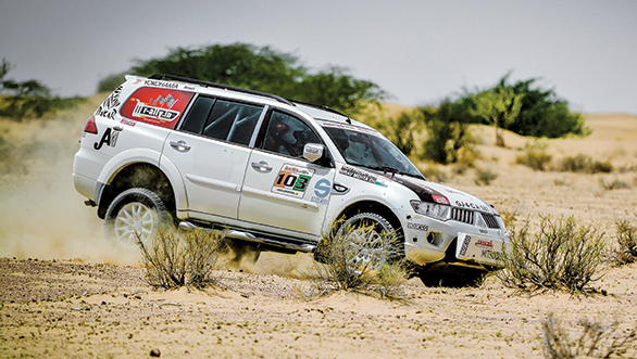 Himanshu Arora and Chirag Thakur took third place in their Gypsy while Niju Padia and Nirav Mehta took fourth place in their Mitsubishi Pajero Sport