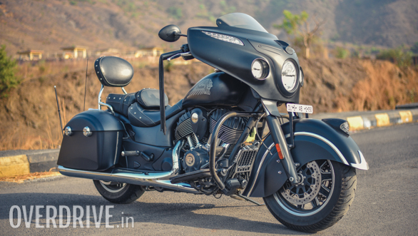 2017 Indian Chieftain Dark Horse Front 3/4 Static Close-up