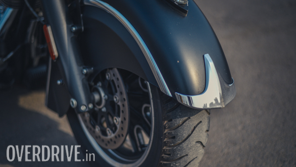 2017 Indian Chieftain Dark Horse Front Tyre detail