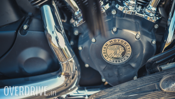 2017 Indian Chieftain Dark Horse Engine detail