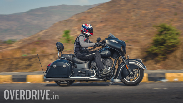 2017 Indian Chieftain Dark Horse Action Shot
