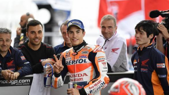 MotoGP 2017: Marc Marquez on pole in Argentina