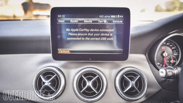 The infotainment supports Apple CarPlay and Android Auto