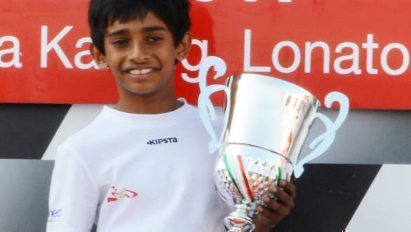 Ruhaan Alva wins Round 2 of Easy Kart Championship in Italy