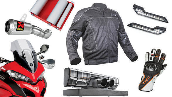 Gear and gadgets: Akrapovic slip-on, Barkbusters LED, Porsche Design Soundbar, Rukka Airventur gloves