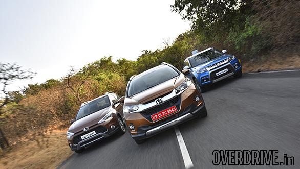 Honda WR-V vs Maruti Suzuki Vitara Brezza vs Hyundai i20 Active (7)