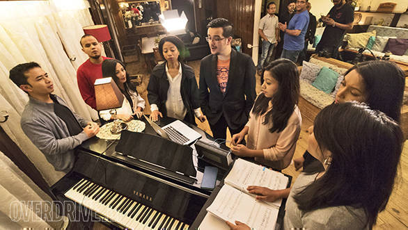 The Shilllong Chamber Choir practice at this very spot in their sprawling residence at Whispering Pines in Shillong, Meghalaya