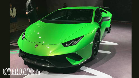 lamborghini huracan performante launched in india at rs crore overdrive. Black Bedroom Furniture Sets. Home Design Ideas