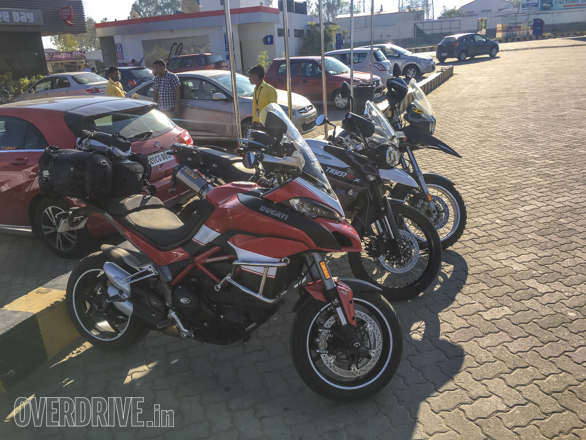 2016 Ducati Multistrada 1200 S with the Triumph Tiger and a BMW R 1150 GS