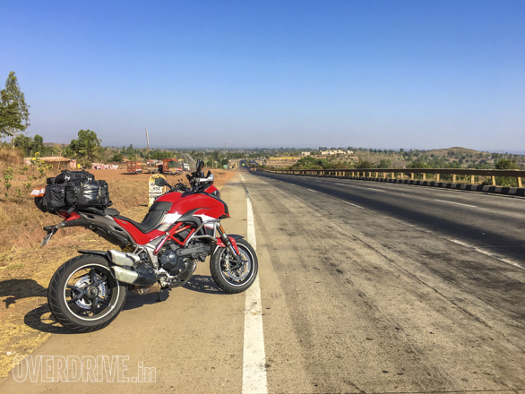 2016 Ducati Multistrada 1200 S out on the highway