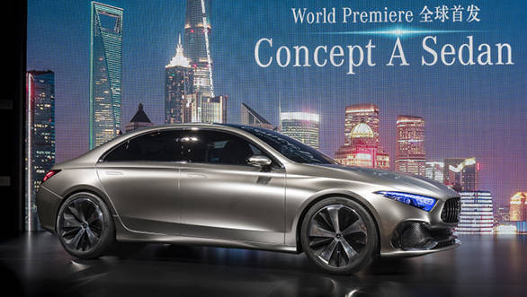 Mercedes-Benz Media Preview im Rahmen der Auto Shanghai 2017. Weltpremiere fr das Mercedes-Benz Concept A Sedan.