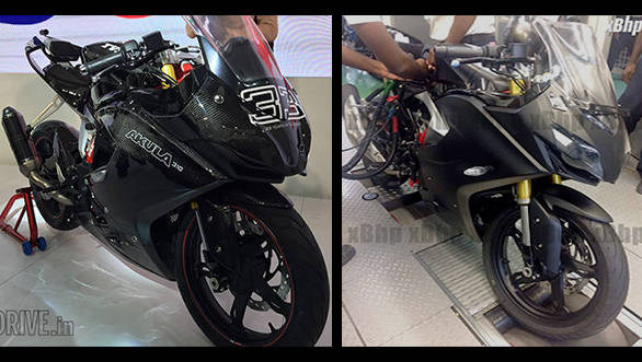2017 TVS Akula 310 spied in its production ready form
