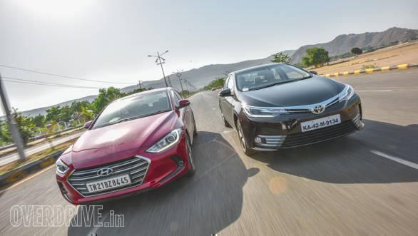 2017 Toyota Corolla Altis petrol automatic vs 2016 Hyundai Elantra petrol automatic