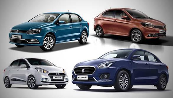 Spec comparison: 2017 Maruti Suzuki Dzire vs 2017 Hyundai Xcent vs 2017 Tata Tigor vs Volkswagen Ameo