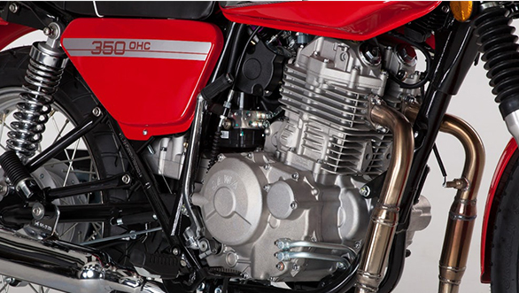 The 350cc motor makes 27.4PS/30.6Nm and is mated to a 4-speed gearbox