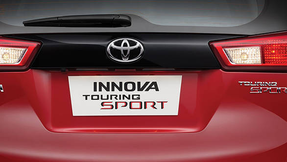 2017 Toyota Innova Crysta Touring Sport features a black bar between the taillights