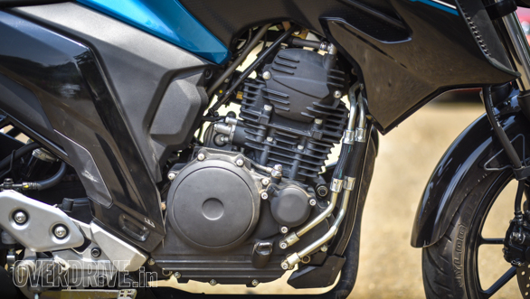 Simple 249cc air-cooled engine uses a 2-valve and a 5-speed gearbox