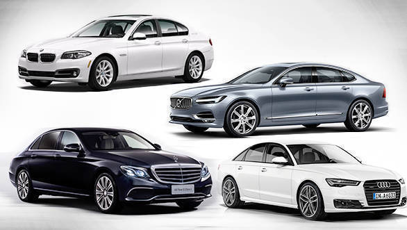 Spec comparison: 2017 Mercedes-Benz E-Class E350d vs Audi A6 35 TDI vs BMW 5 Series 520d vs Volvo S90 D4 Inscription