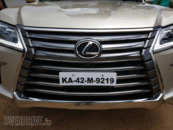 The X-shaped grille is massive and looks quite intimidating.  - width=