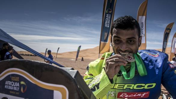 Aravind KP finished the 2017 Merzouga Rally in 21st position