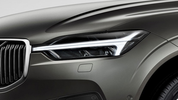 The new Volvo XC60 headlight detail