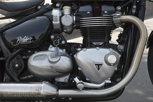 Triumph Bonneville Bobber Detail - engine