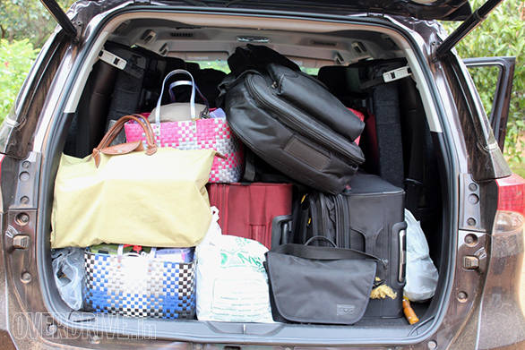 The Fortuner packed in a lot of stuff including food baskets and Rammy's precious guitar!
