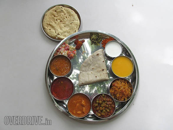 The Ingle's took us for lunch to their Padma Restaurant that serves a wholesome veg thali