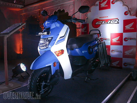 honda cliq cc scooter launched  india  rs  overdrive