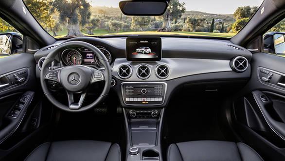 International-spec Mercedes-Benz GLA facelift interior