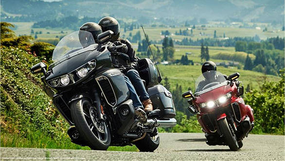 The 2018 Yamaha Star venture is based on hybrid frame that is a combination of a steel tubular front section with a cast aluminium rear subframe