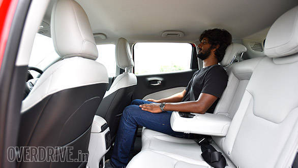 Shoulder room in the Jeep Compass is just about sufficient while headroom and kneeroom are impressive