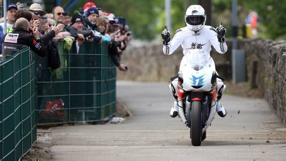 Bruce Anstey claimed victory for Mugen Honda in the TT Zero