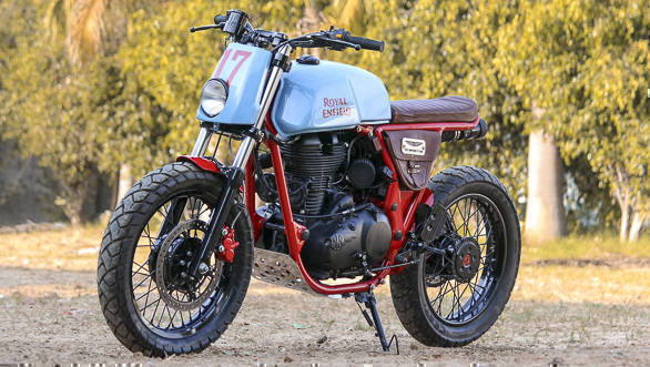 2017 Royal Enfield customs: Custom Continental GT by TNT Motorcycles