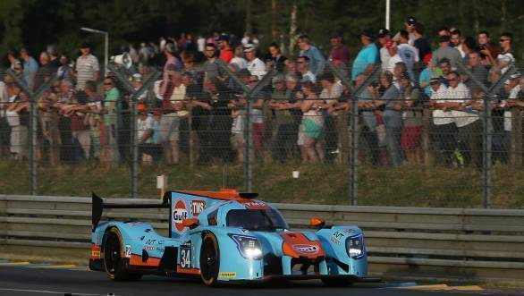 The Gulf-liveried Tockwith Motorsport LMP2 Ligier finished 10th in class