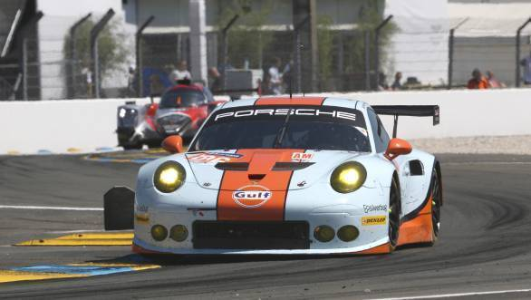 The Gulf Racing UK Porsche 911 RSR finished 10th in the GTE Am category