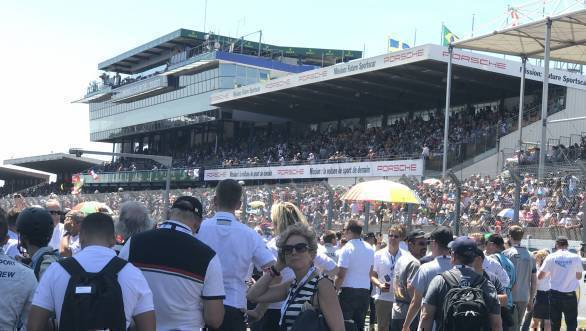 What it's really like on the grid ahead of the big race. But it's so terrific that Le Mans attracts as many fans as it does!