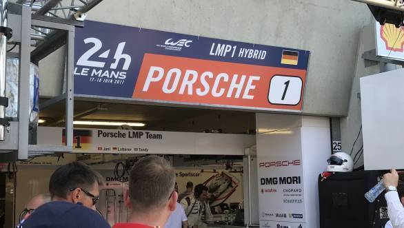 The garage that houses the No.1 Porsche of Neel Jani, Andre Lotterer & Nick Tandy. Home for the next while for the mechanics who need to be as efficient as the drivers and the hybrid LMP1 machines