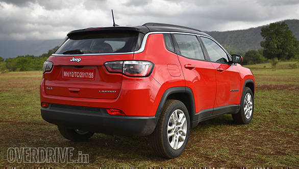 The Jeep Compass's rear profile looks a little smaller than the rest of the car, but smart nonetheless