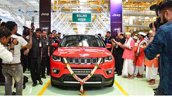 2017 Jeep Compass production begins in India