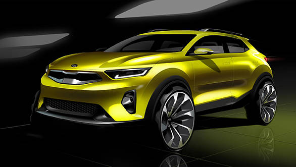 Sketches of the Kia Stonic compact crossover revealed