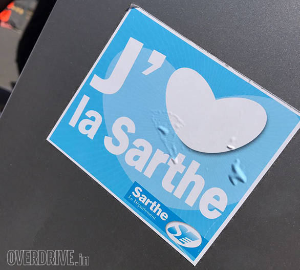 I love Sarthe, the sticker says! Well, who doesn't!