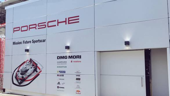 What goes on behind that door? Plenty of excitement and some amount of tension in the Porsche LMP1 garage when the No.2 car was in for repairs