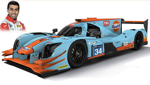 Le Mans: Karun Chandhok gears up to drive the Gulf liveried Tockwith Motorsport LMP2 machine