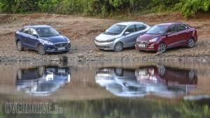 Comparison: 2017 Maruti Suzuki Dzire vs Hyundai Xcent vs Tata Tigor