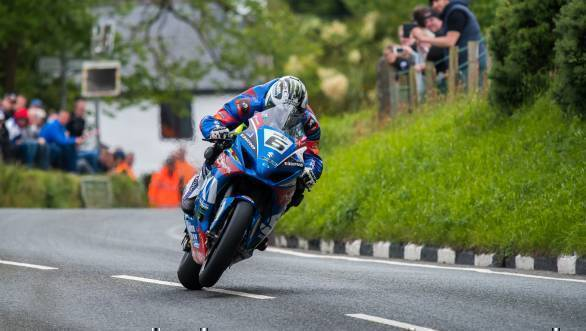 Michael Dunlop (Bennett's Suzuki) at Barregarrow during the Senior TT at TT2017. (PICTURE BY TONY GOLDSMITH)