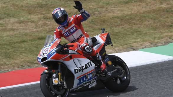 The win was Ducati's first at the track since Casey Stoner's victory at Mugello in 2009