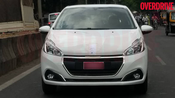 2017 Peugeot 208 spotted in India