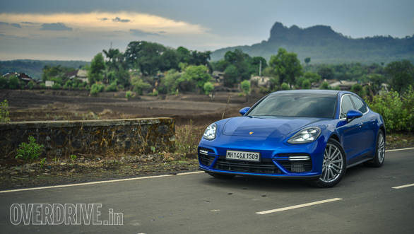 The Porsche Panamera looks least 911-like from the front, thanks to the wider profile and the larger headlamps