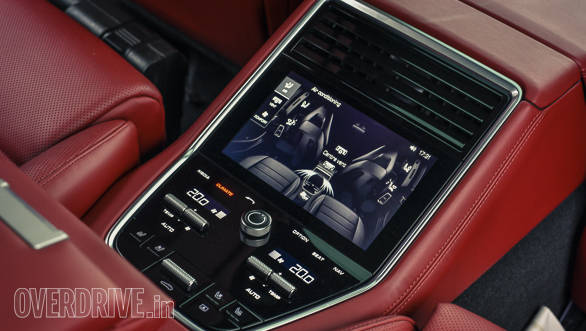 The rear passengers also get a touchscreen panel to control media and air con settings